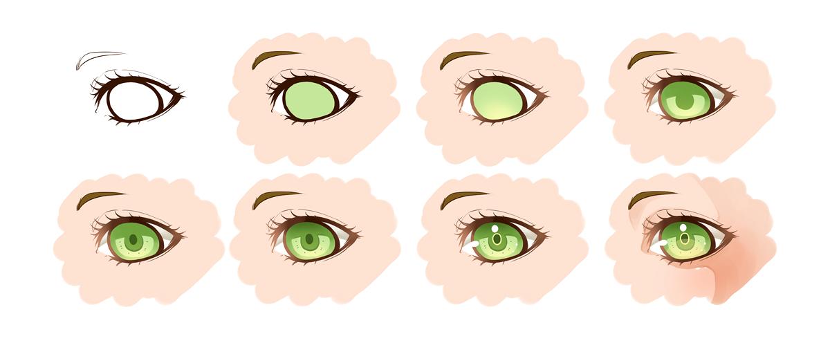 Eyes on drawing tutorials deviantart kisaxmoon 46 2 how i color eyes paint tool sai by motoko su ccuart Images