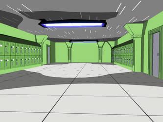 Casper High- Hallway end