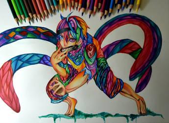Rainbow Kaneki Ken by SorinDrawings