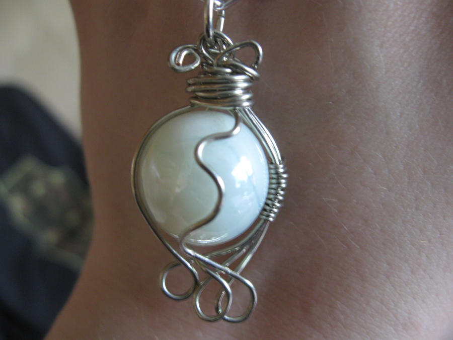 Wire wrapped marble necklace by katlynmanson on deviantart for How to make marble jewelry