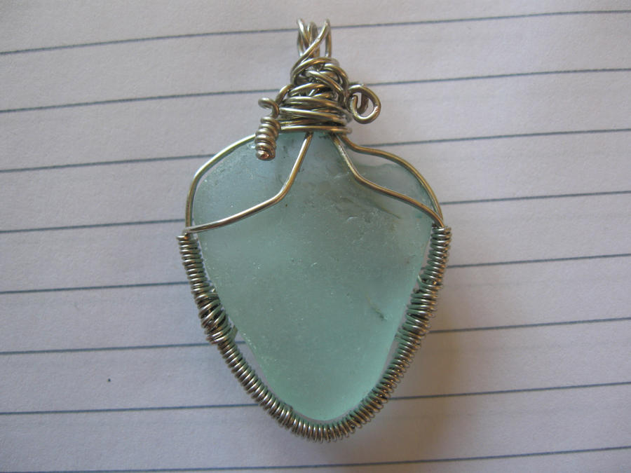 Light blue sea glass wire wrapped pendant by katlynmanson on light blue sea glass wire wrapped pendant by katlynmanson aloadofball