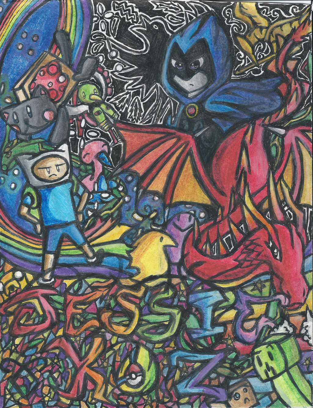 Notebook Cover Art ~ My binder cover by keyboardingchihuahua on deviantart