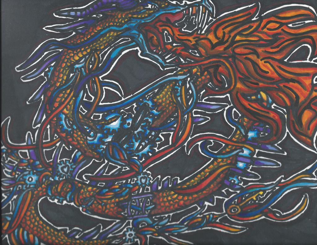 Clockwork Dragon by KeyboardingChihuahua