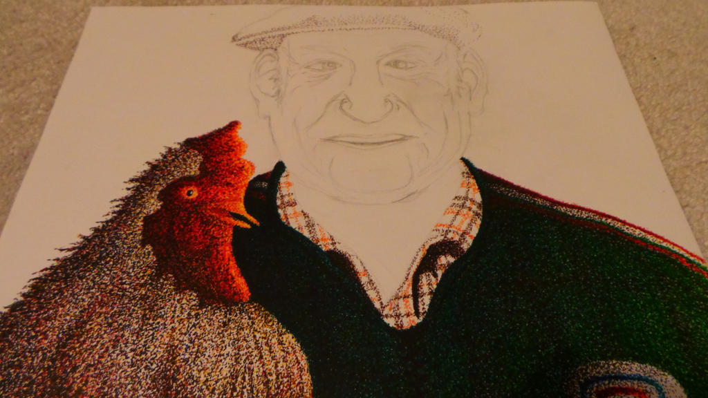 WIP: Gramps and a Chicken by KeyboardingChihuahua