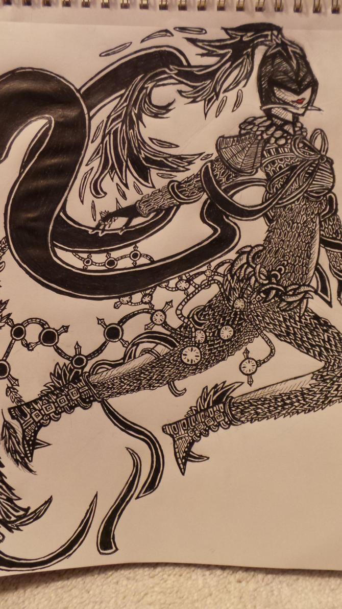 Doodle #1: Final Fantasy-esque by KeyboardingChihuahua