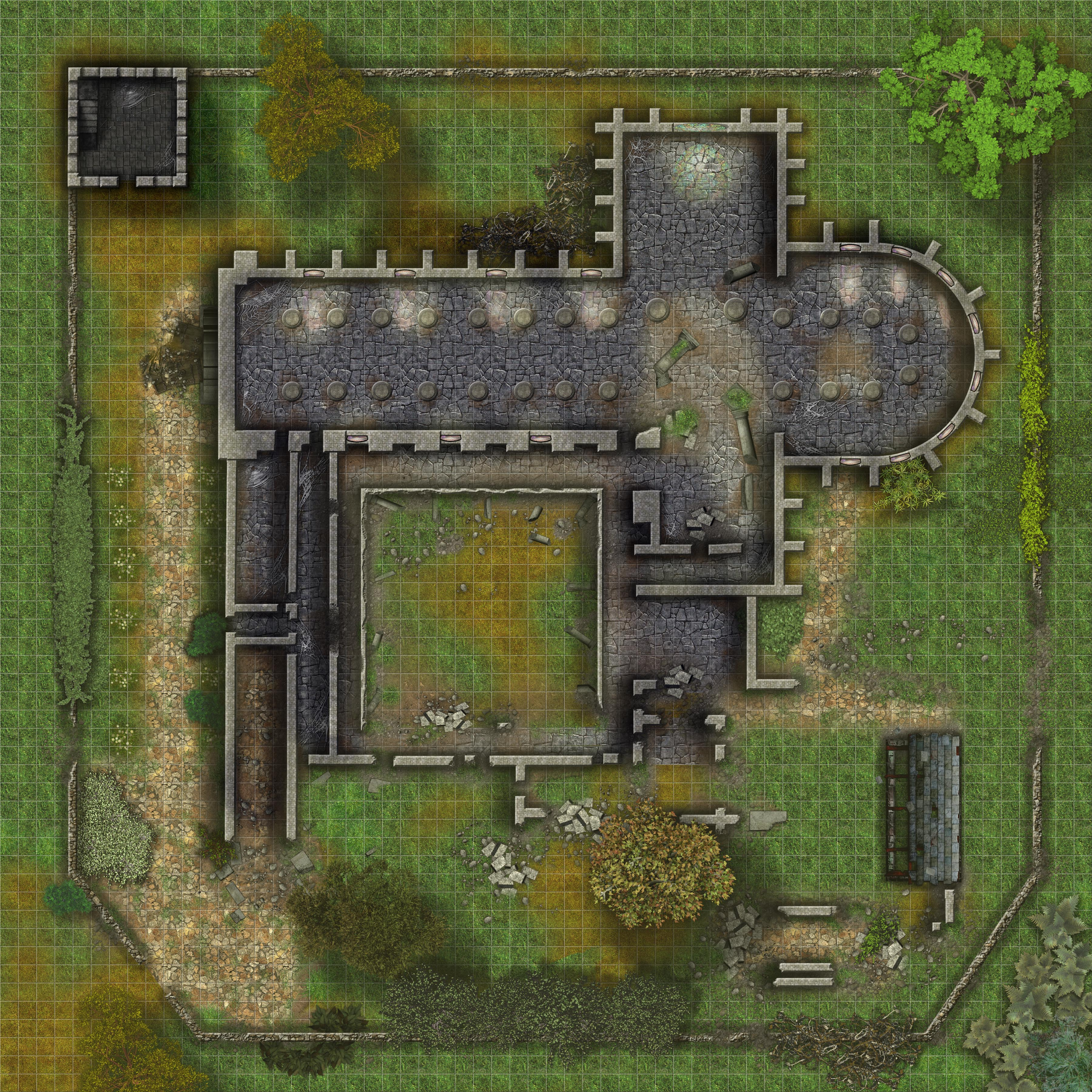 Dungeon Floor Plans Ruinned Abbey Without Roofs By Simonutp On Deviantart