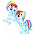 Rainbow dash and Rainbow blitz by Acuario1602
