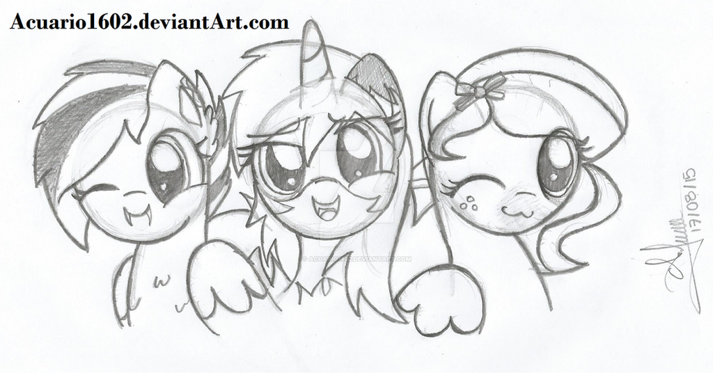 Raven, Autumm and Muffin. by Acuario1602