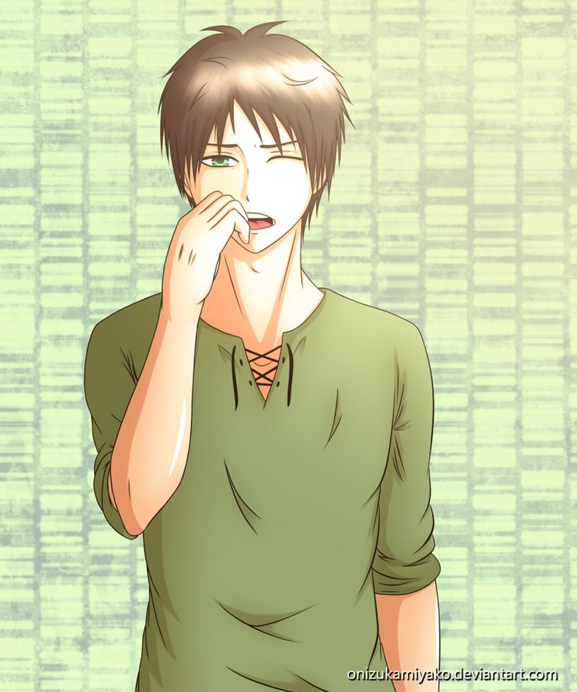 Yawning Eren by OnizukaMiyako on DeviantArt