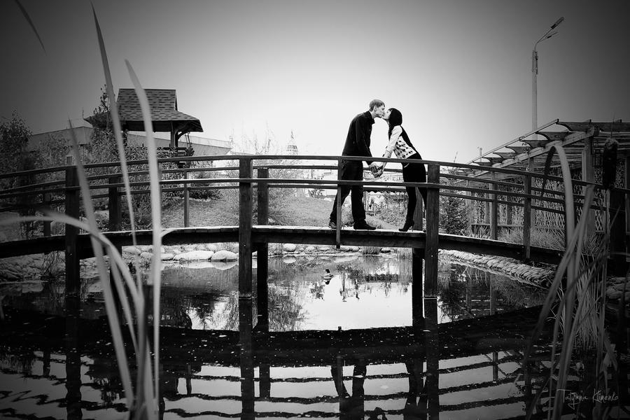 On the bridge by Tatyana-Klimenko