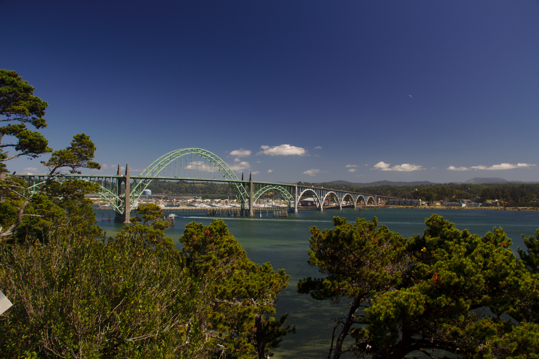 Yaquina Bay Bridge Summer 2015 by pricecw-stock