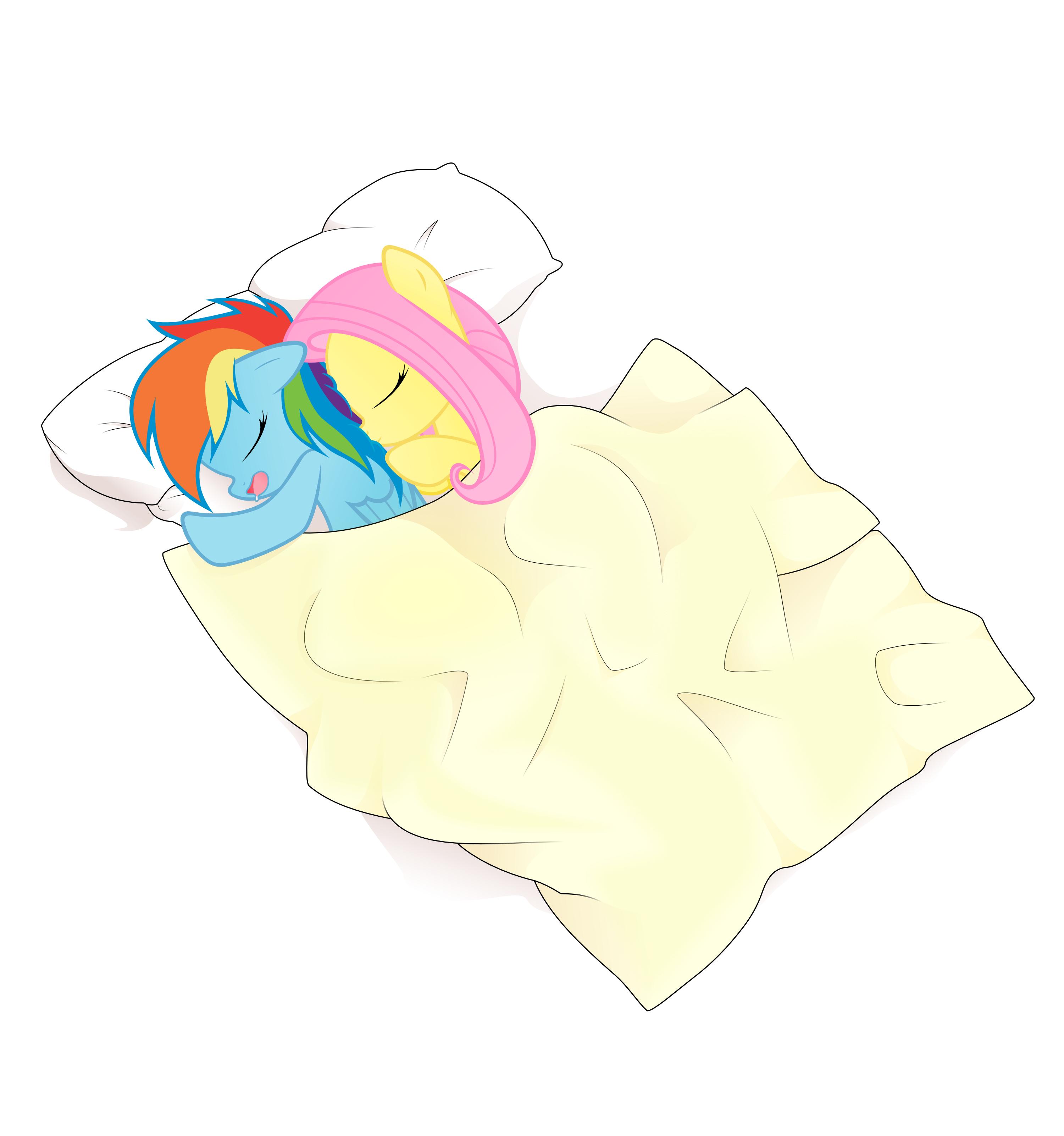 Flutter Snuggle by kurokaji11