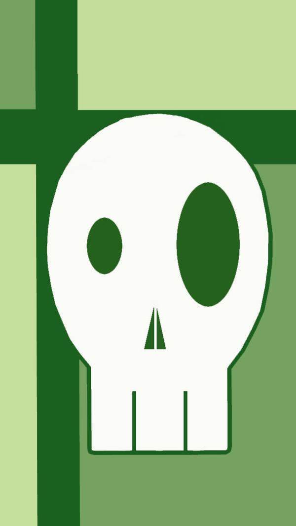 iphone 5c wallpaper green skull by lizhalexander on