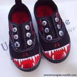 Monster Shoes by unicornucopiae