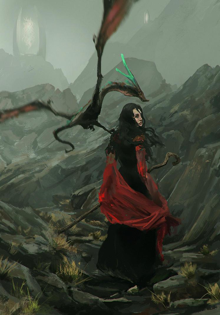 Pterosaur witch by Hexaylon