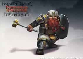 Shield Dwarf Fighter by Conceptopolis