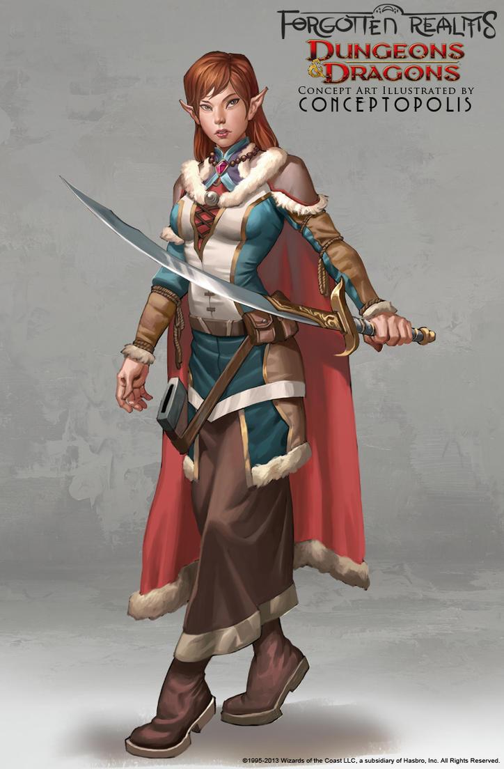 Silverymoon Half-Elf Druid by Conceptopolis