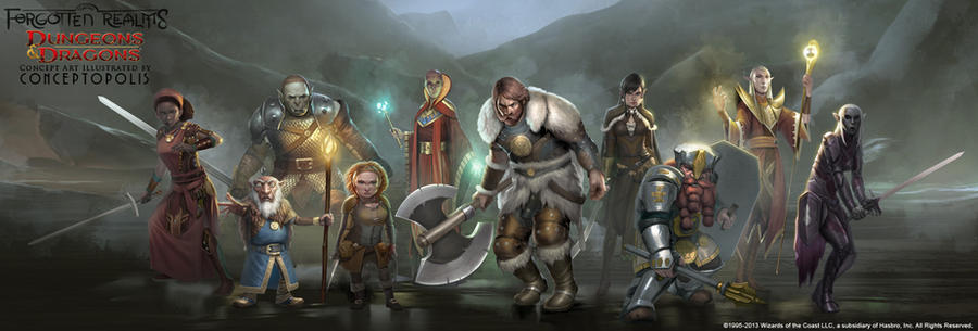 Forgotten Realms: Characters by Conceptopolis