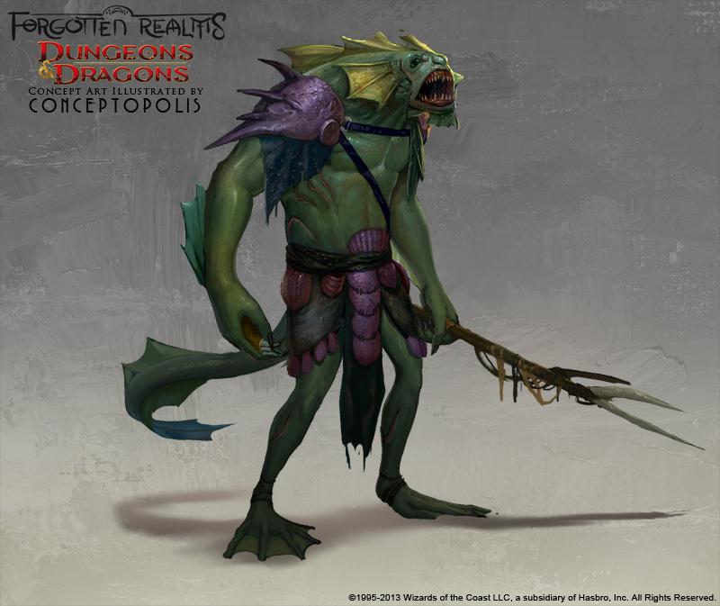 Sahuagin (Lizard Monster) by Conceptopolis