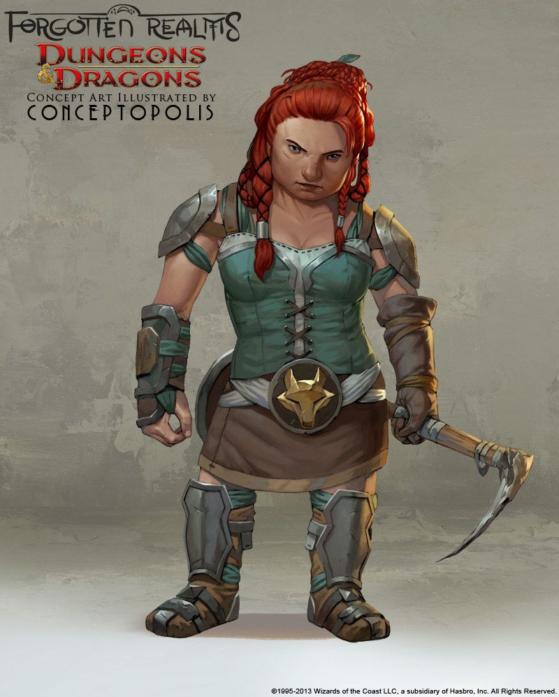 Shield Dwarf (female) by Conceptopolis