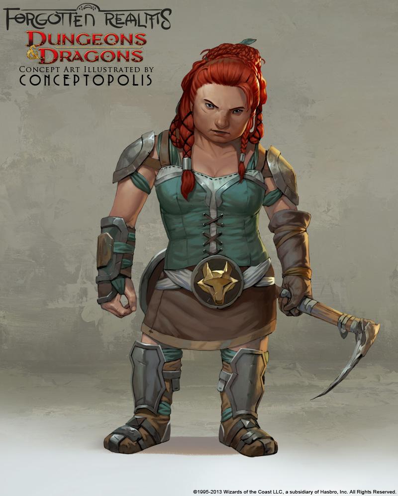 Shield Dwarf (female) by Conceptopolis