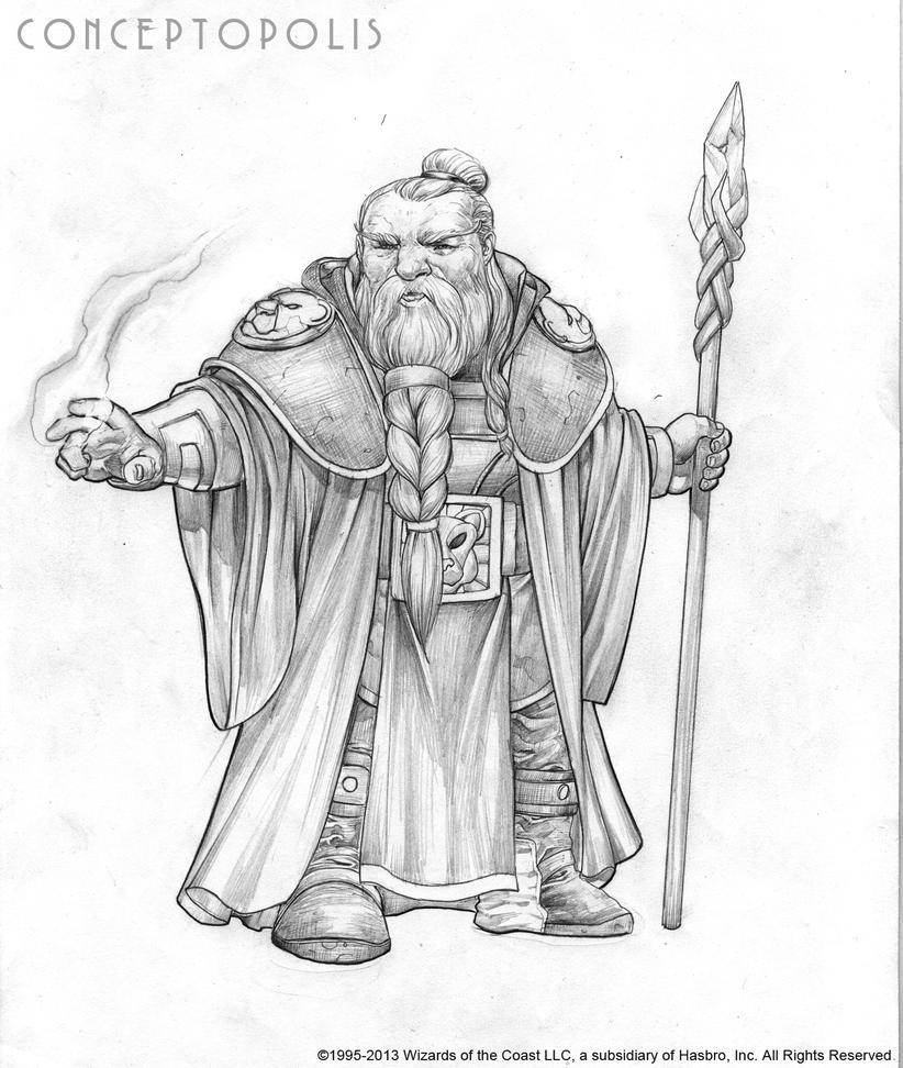 Shield Dwarf Male E Pencil by Conceptopolis