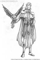 Moon Elf (Male) Pencil by Conceptopolis