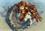 Steampunk Lady Flying