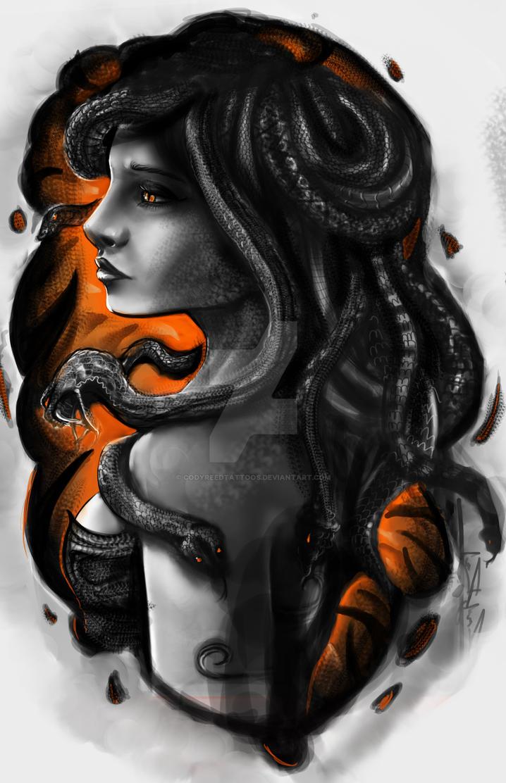 Medusa Illustration Tattoo: Medusa Tattoo Design By CodyReedTattoos On DeviantArt