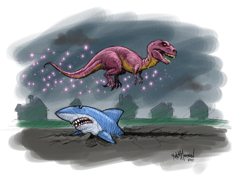 Anywhere Jaws v Magical T. Rex by KurtMAndersen