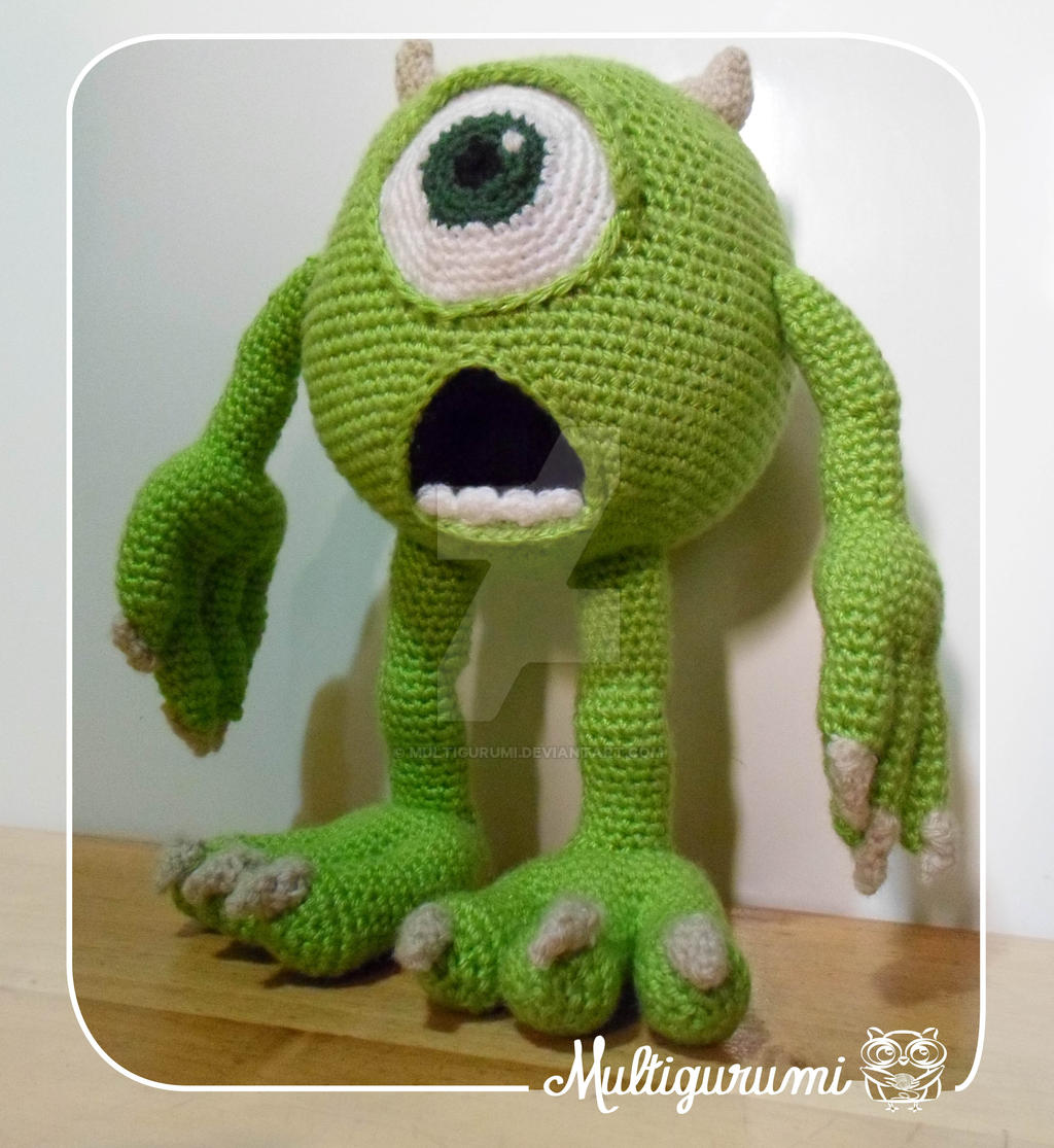 Bob Minion Amigurumi Pattern : Mike Wazowski - Monsters Inc. by Multigurumi on DeviantArt