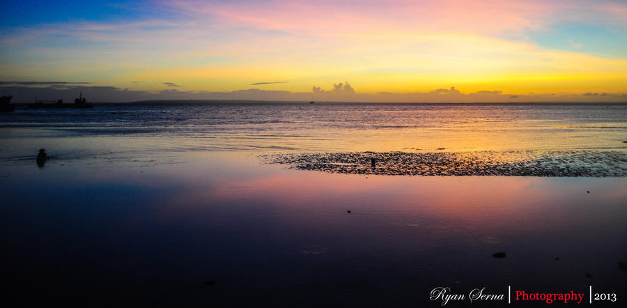 Sunrise over Bantayan Island by flatline06