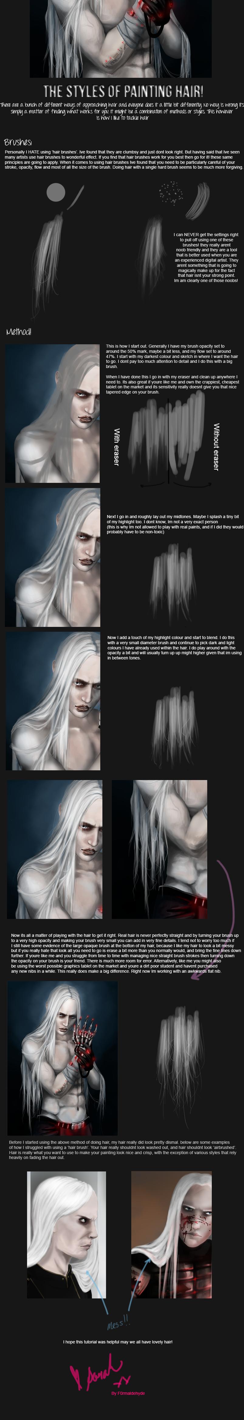 Painting Hair by vegarBlack