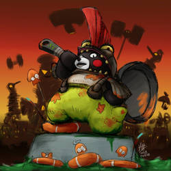 Kumamon as the Part-time Cohock by alt-L