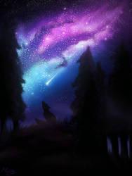 Night path by Mistyrdis