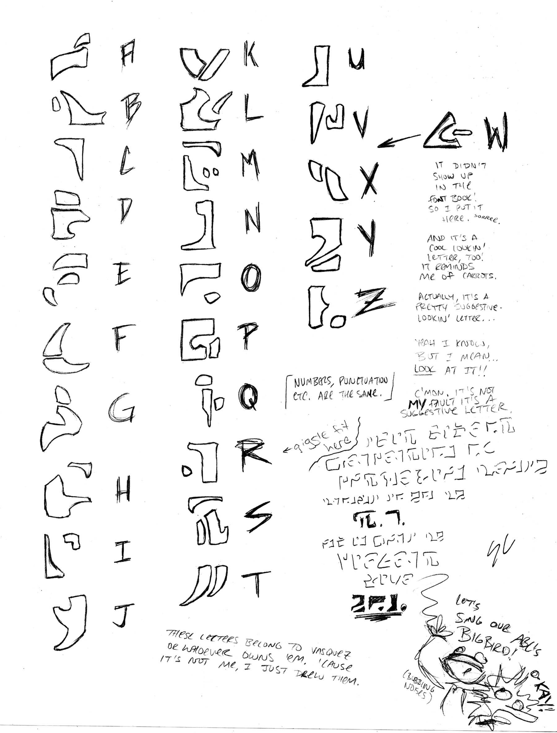 Irken Alphabet for Jane-Zee by WNoisePollution