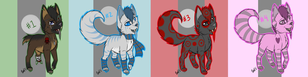 Adoptables Set 2 (1 Left!!!~) by Xx-Lord-V-xX