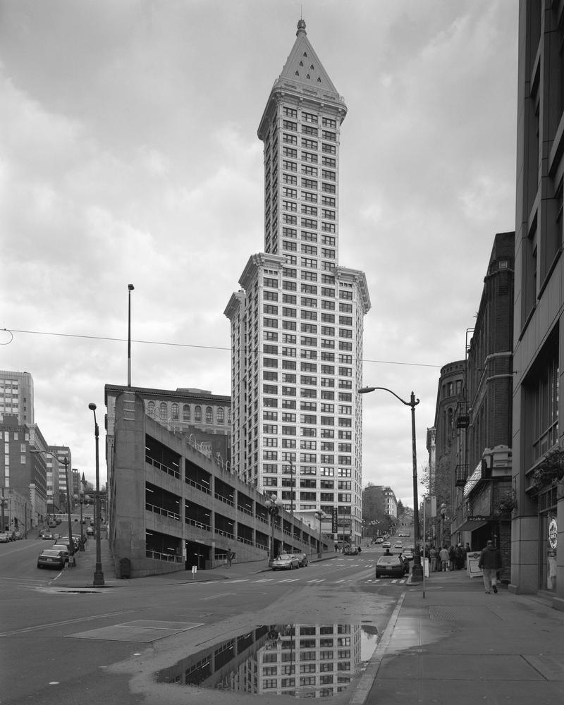 Smith Tower Black and White 1 by photoboy1002001