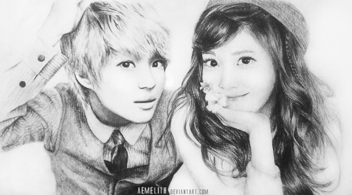 Taemin and Jessica Portrait by aemelith on DeviantArt