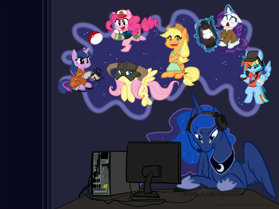 ~Gamer Luna Desktop~ by Ruby-Sunrise