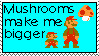 Mushrooms make me bigger stamp by legovideogamespriter