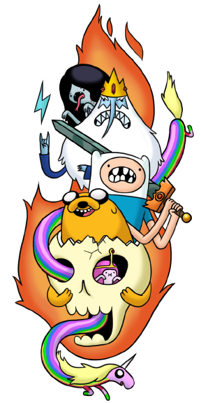 adventure time temporary tattoo design by lanbridge on deviantart. Black Bedroom Furniture Sets. Home Design Ideas