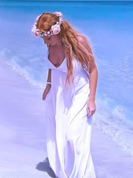 Pregnant Bride On The Beach