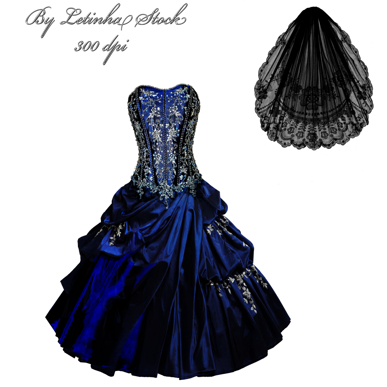Dress And Veil by letinhastock
