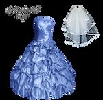 Lavender Dress And Veil