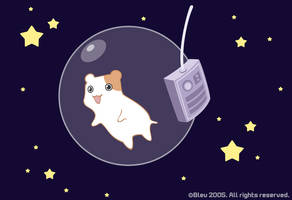 Hamster in space by Bleuette
