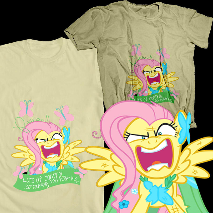 Fluttershy V1 Shirt Design by likeaBrony