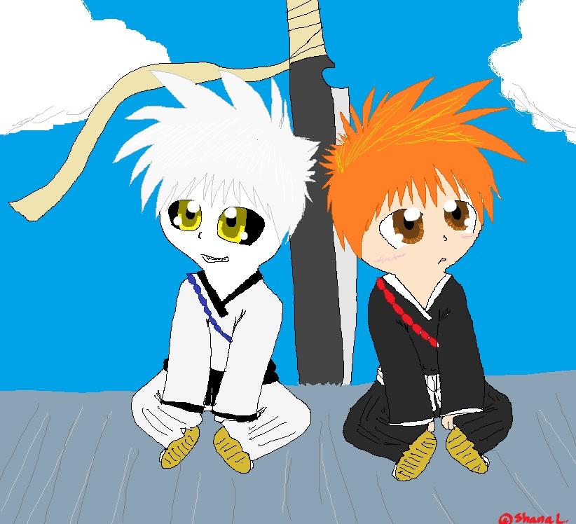 Ichigo And Hollow Ichigo Chibis By Puppyluver92 On DeviantArt