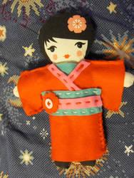 easy sew doll kit 'Himawari'