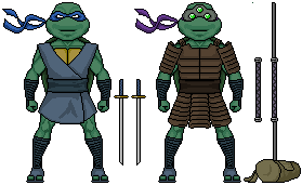 Micro Leonardo And Donatello by FRM5993